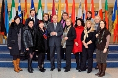 Visitors group with Othmar KARAS